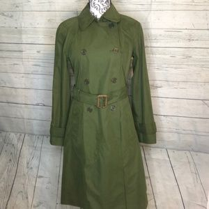 J Crew Military Trench Coat Army Green 2 c9128